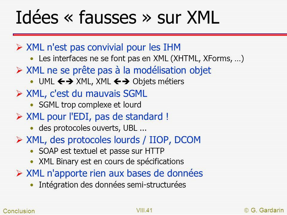 Idées « fausses » sur XML