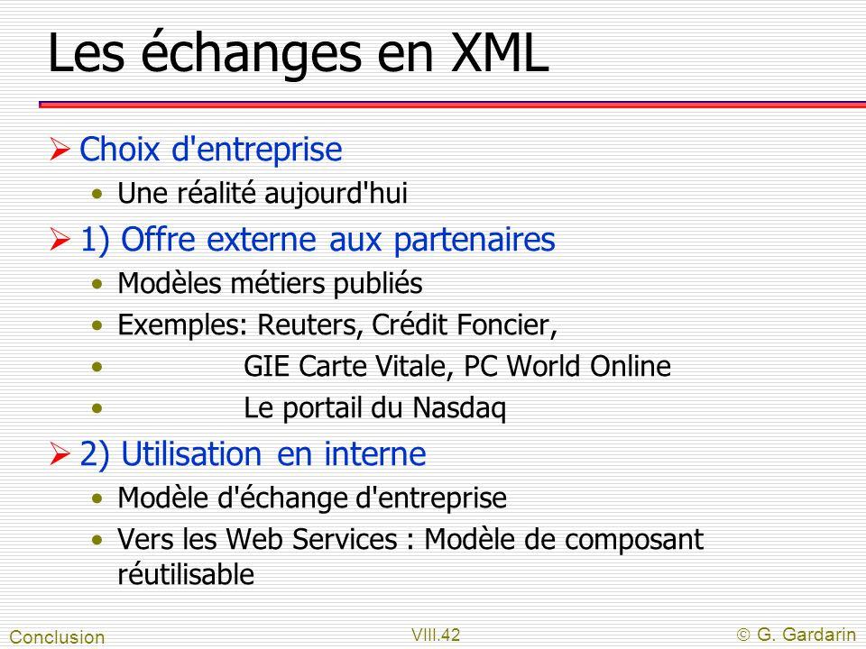 Les échanges en XML Choix d entreprise