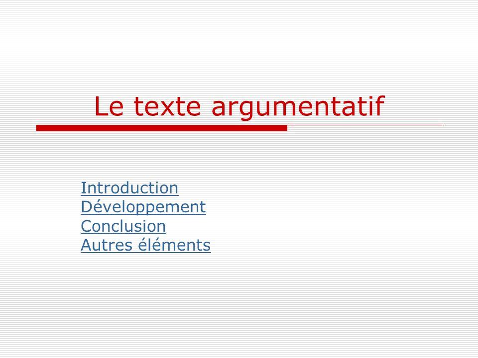 Introduction Développement Conclusion Autres éléments