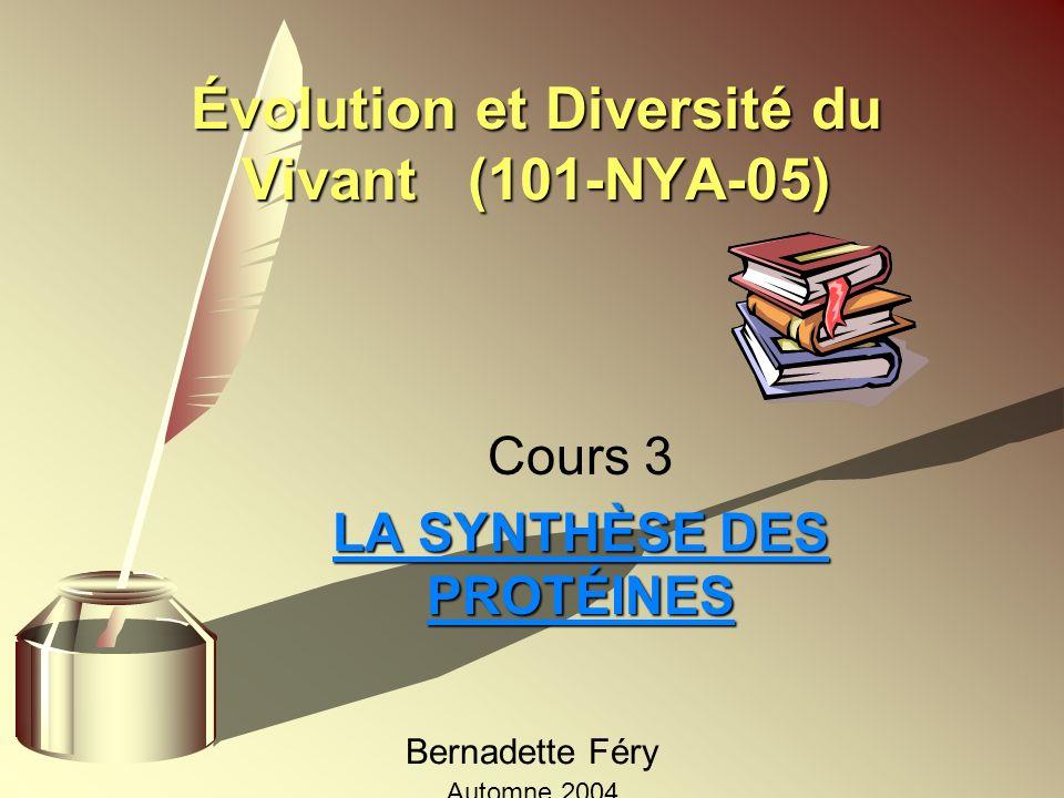 Évolution et Diversité du Vivant (101-NYA-05)