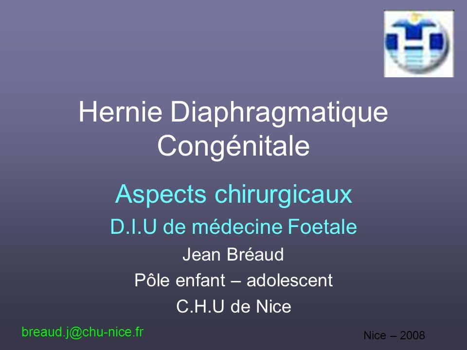 Hernie Diaphragmatique Congénitale