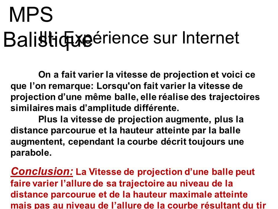 III- Expérience sur Internet