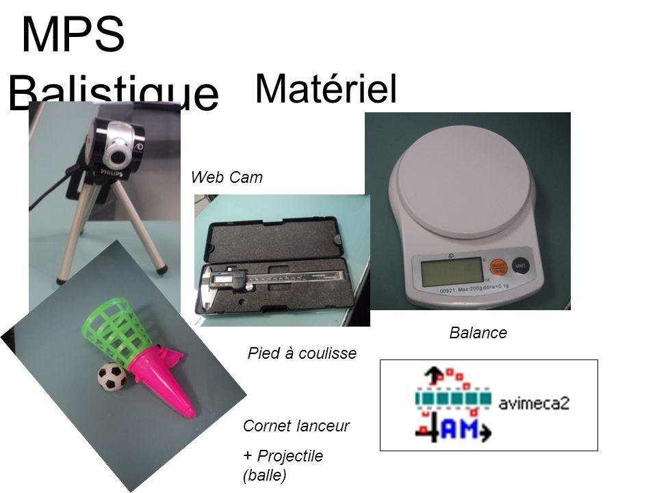 MPS Balistique Matériel Web Cam Balance Pied à coulisse Cornet lanceur