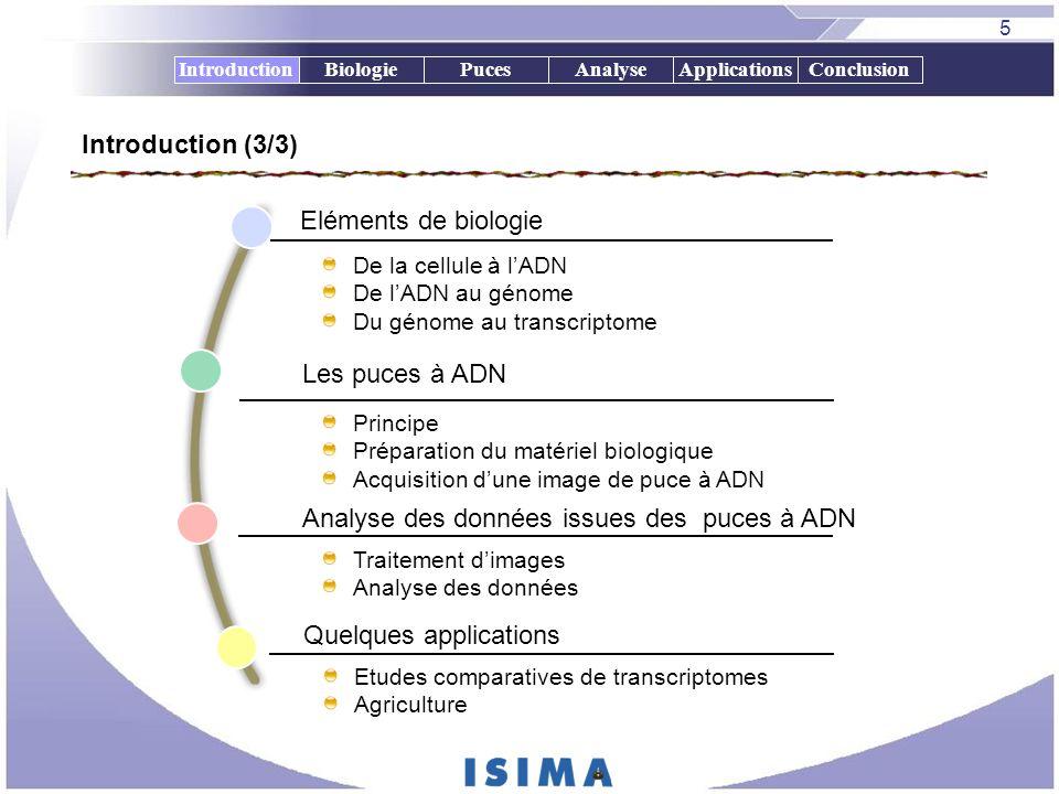 Analyse des données issues des puces à ADN