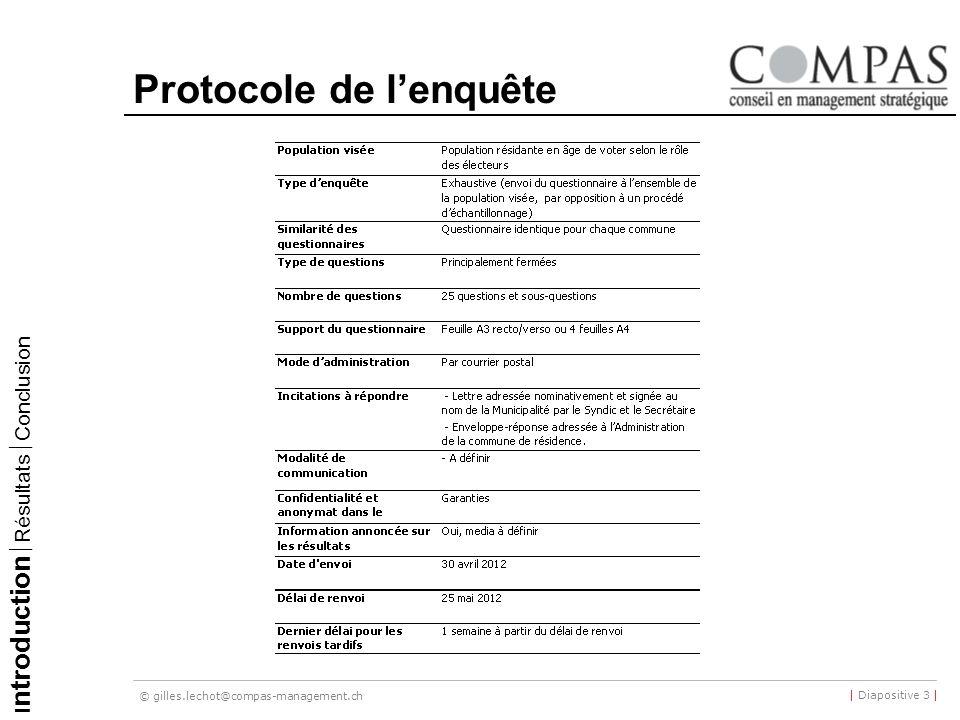 Protocole de l'enquête