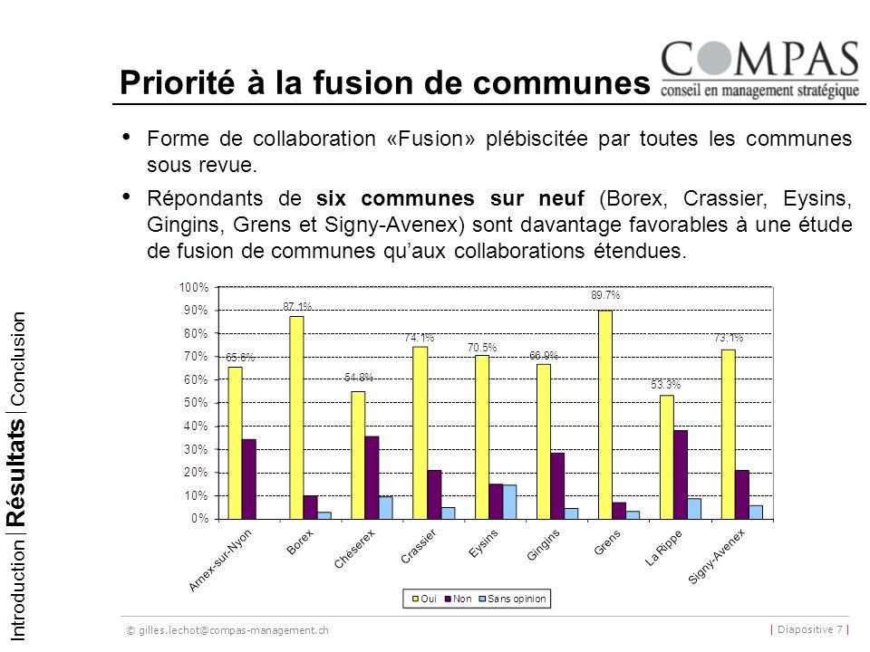 Priorité à la fusion de communes