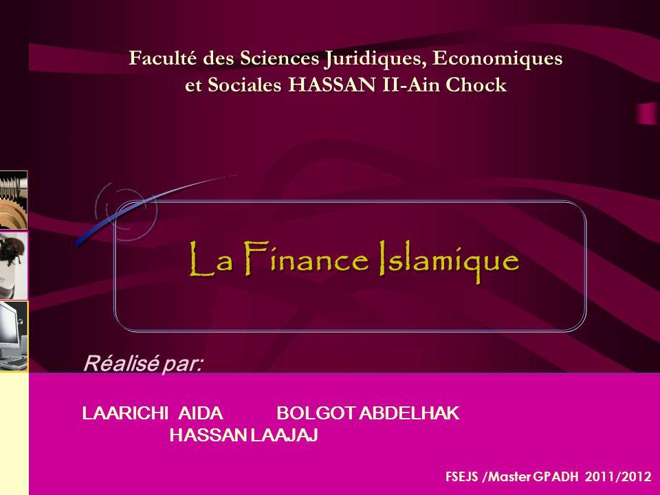 Faculté des Sciences Juridiques, Economiques et Sociales HASSAN II-Ain Chock
