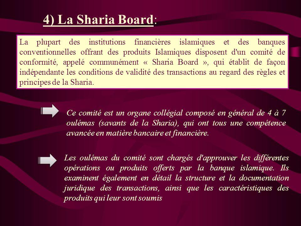 4) La Sharia Board: