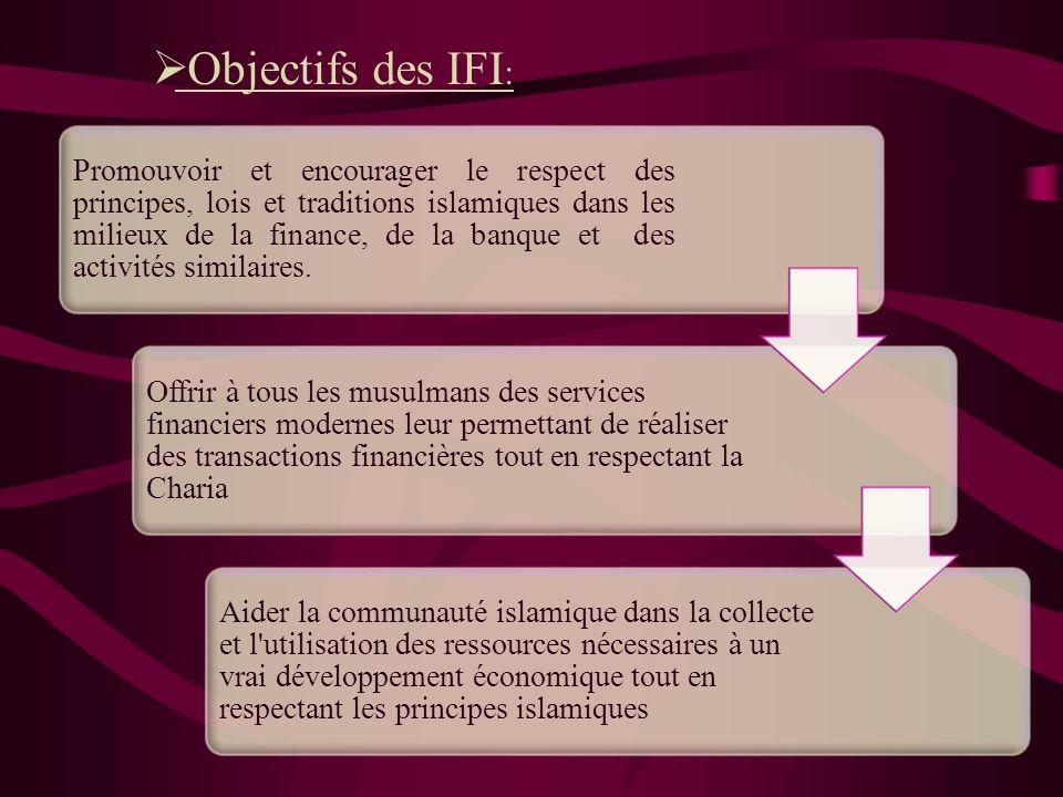 Objectifs des IFI: