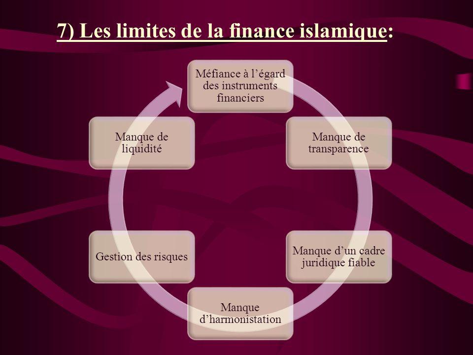 7) Les limites de la finance islamique: