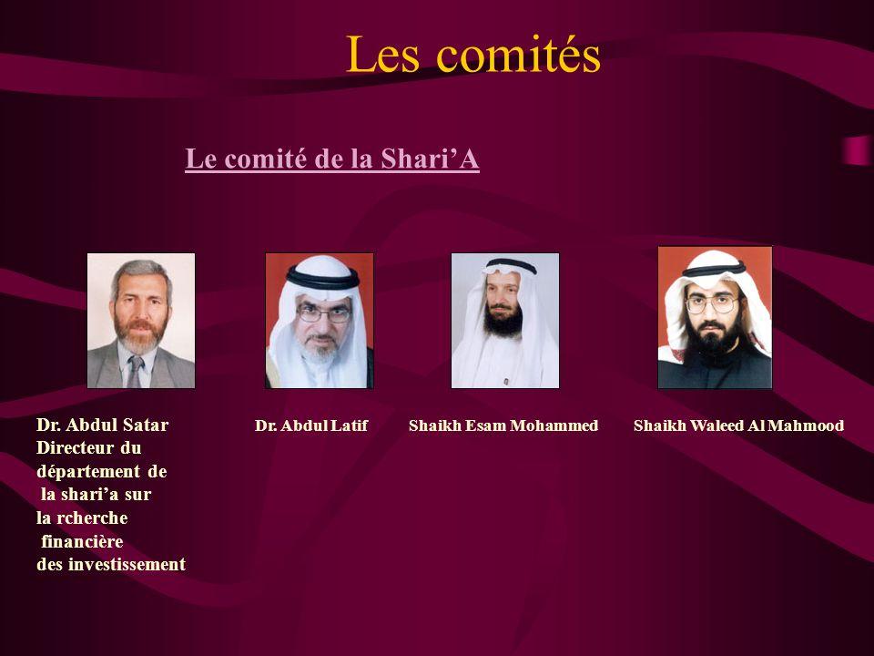 Les comités Le comité de la Shari'A Dr. Abdul Satar Directeur du