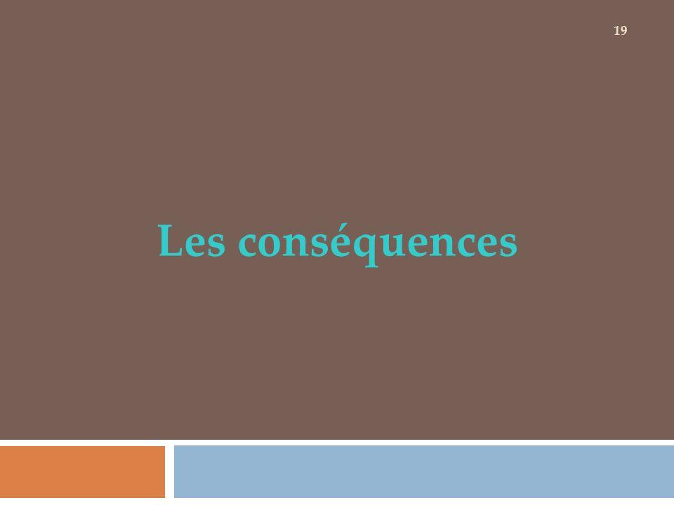 Les conséquences