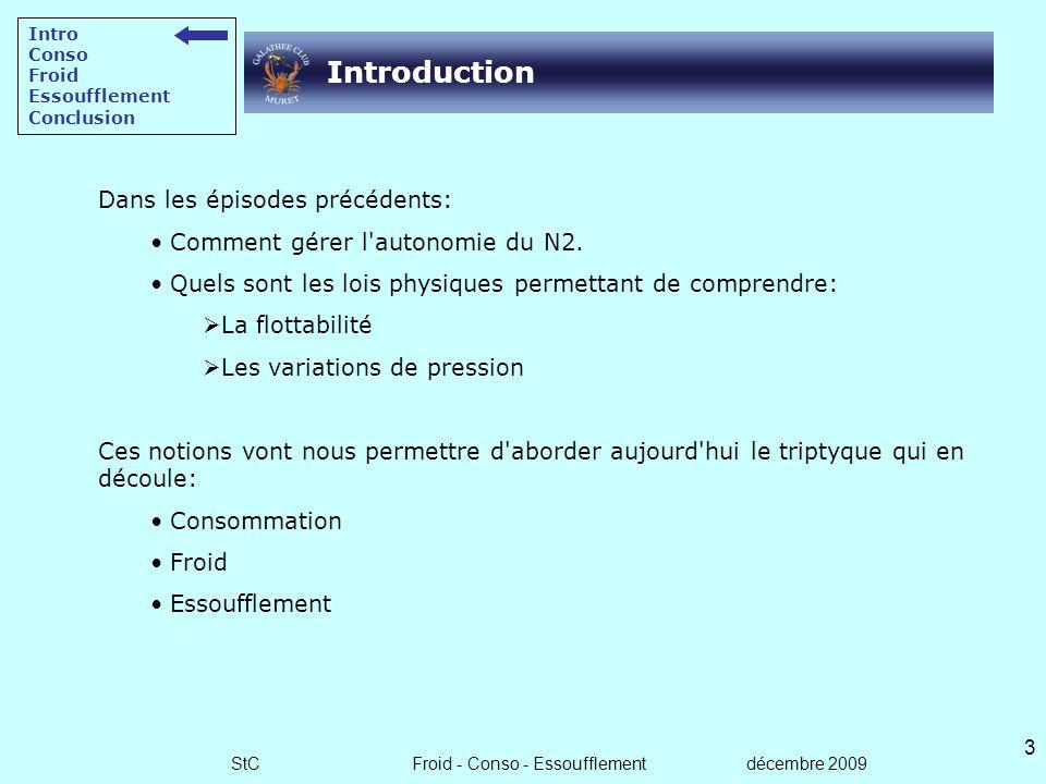 StC Froid - Conso - Essoufflement décembre 2009