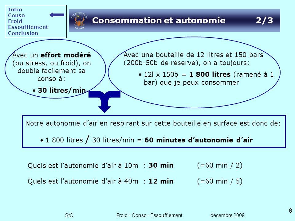 Consommation et autonomie 2/3