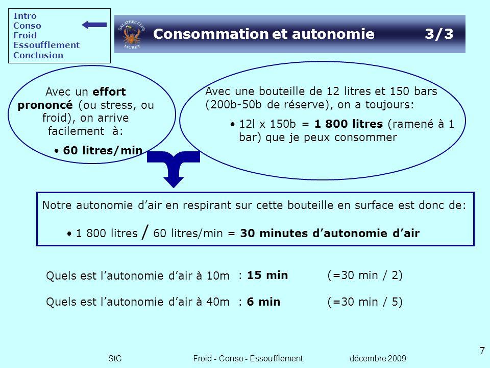 Consommation et autonomie 3/3