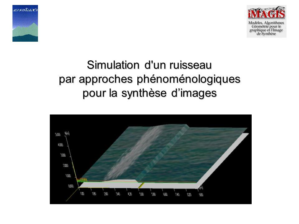 Simulation d un ruisseau par approches phénoménologiques pour la synthèse d'images
