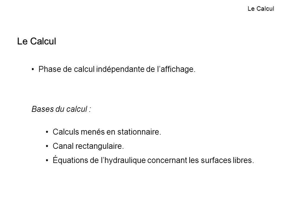 Le Calcul Phase de calcul indépendante de l'affichage.