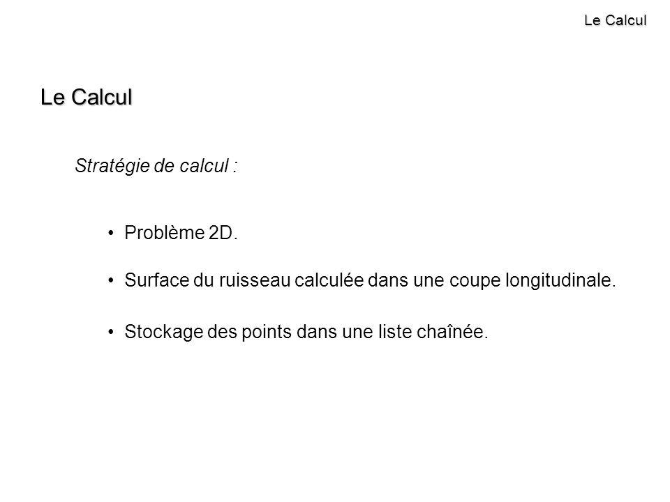 Le Calcul Stratégie de calcul : Problème 2D.