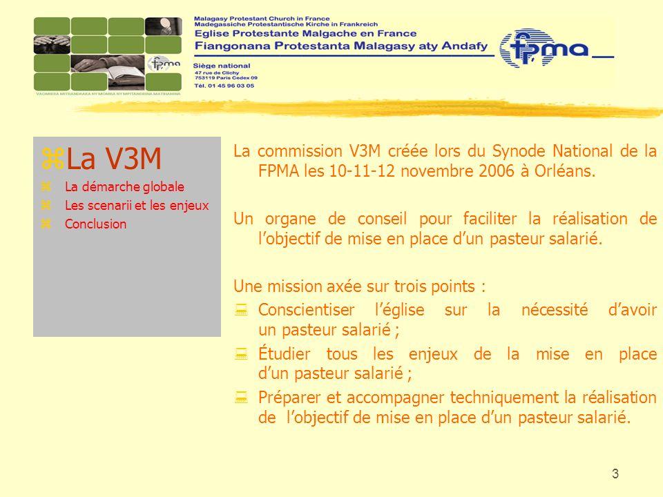 La V3M La démarche globale. Les scenarii et les enjeux. Conclusion.