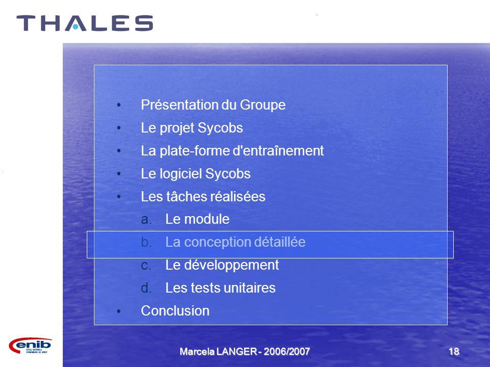 Présentation du Groupe Le projet Sycobs La plate-forme d entraînement