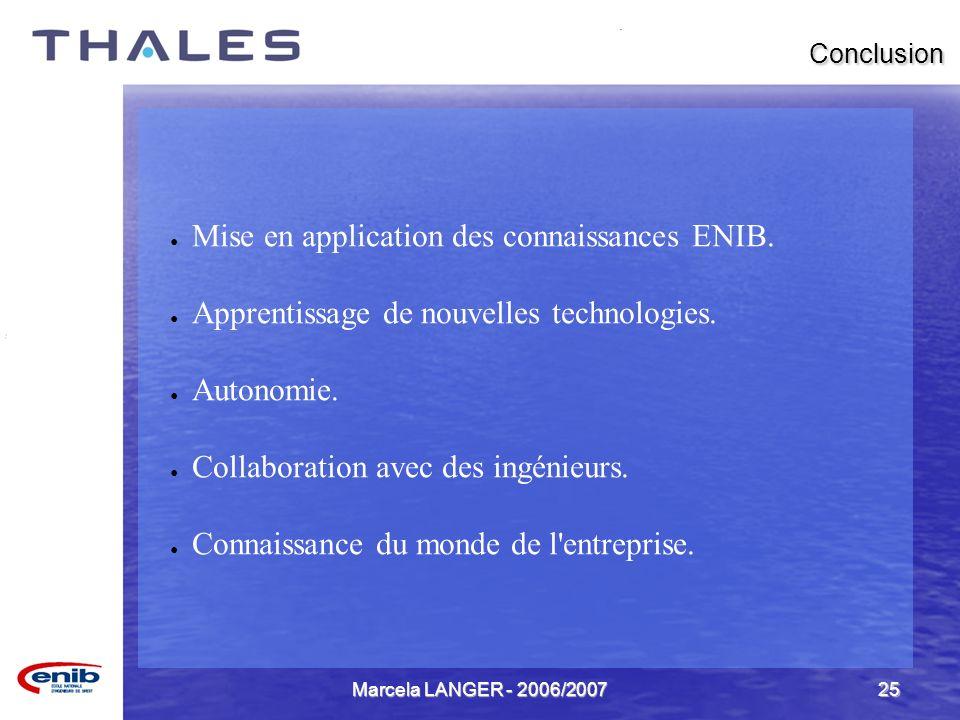 Mise en application des connaissances ENIB.
