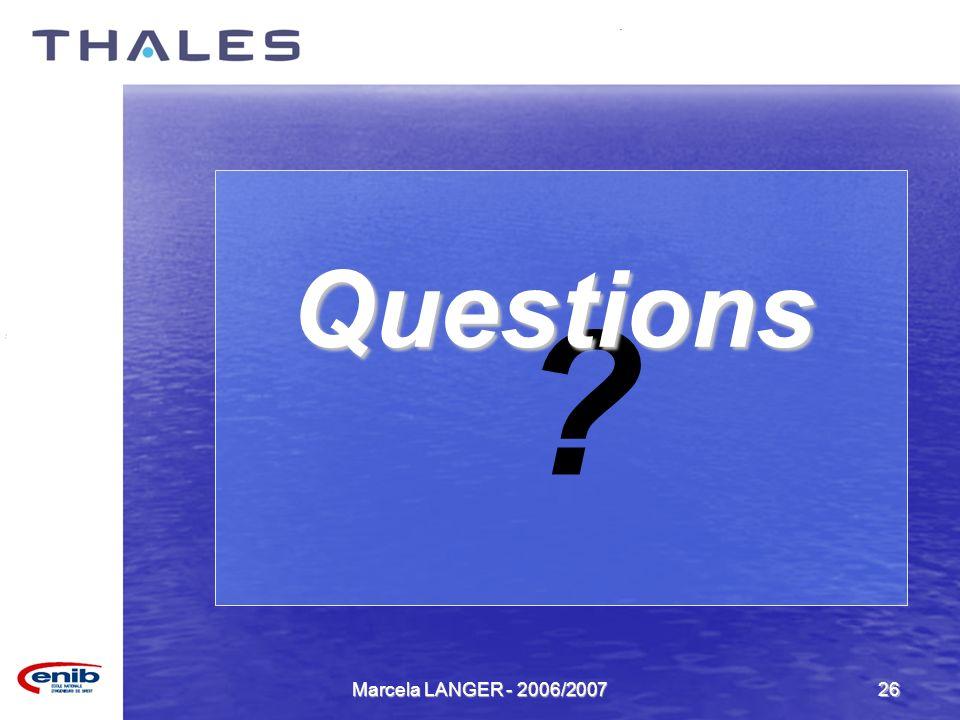 Questions Marcela LANGER - 2006/2007
