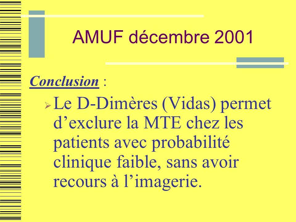 AMUF décembre 2001 Conclusion :