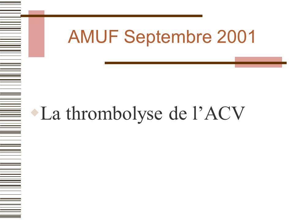 La thrombolyse de l'ACV