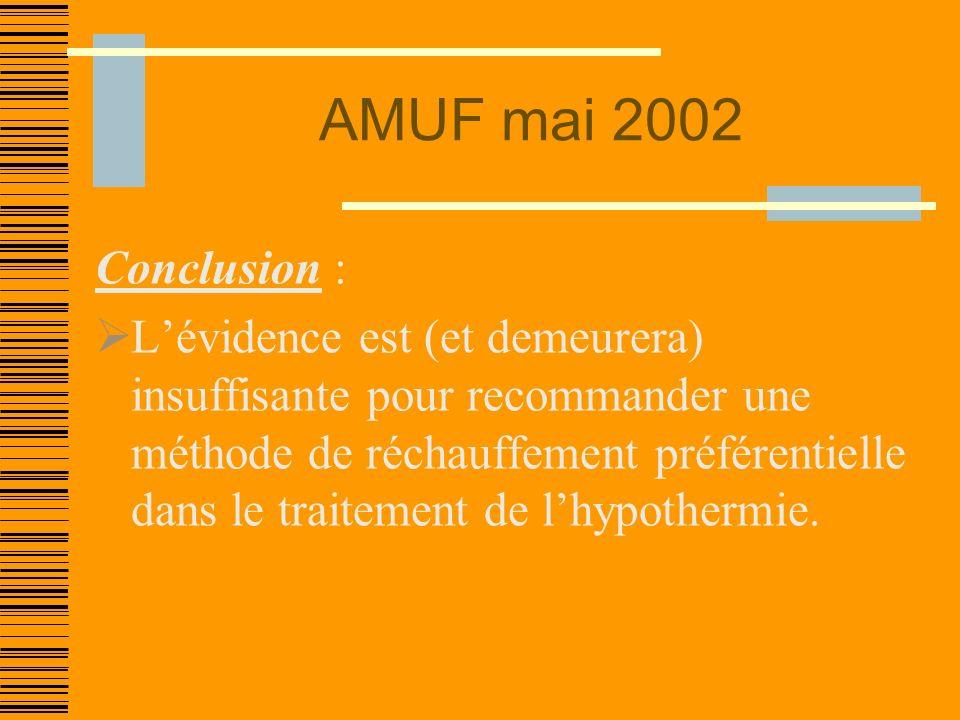 AMUF mai 2002 Conclusion :