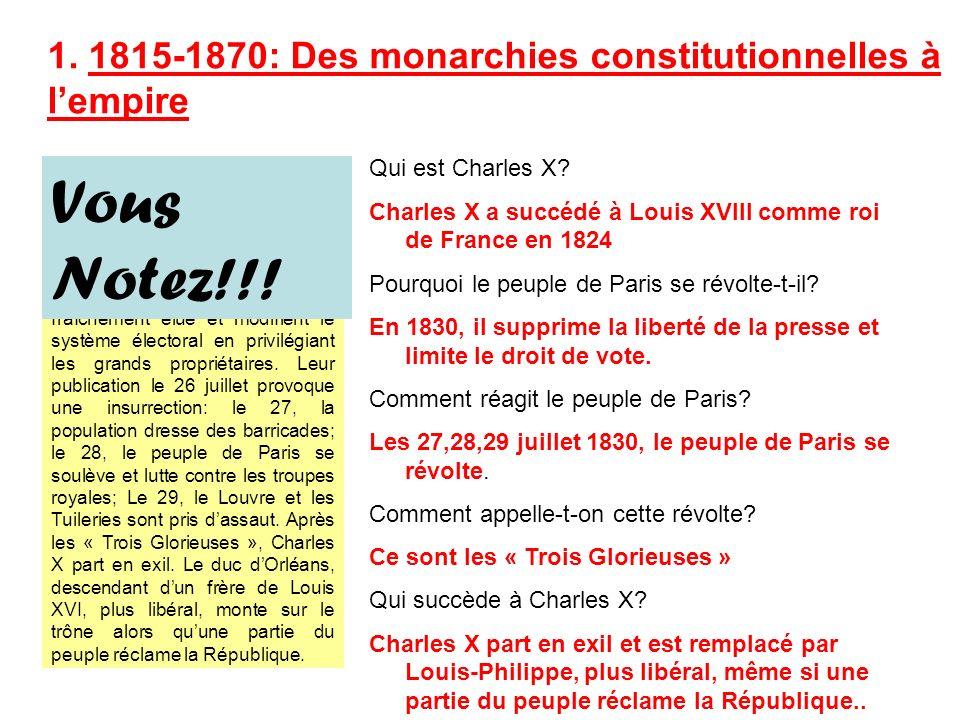 Evénement: La Révolution de 1830
