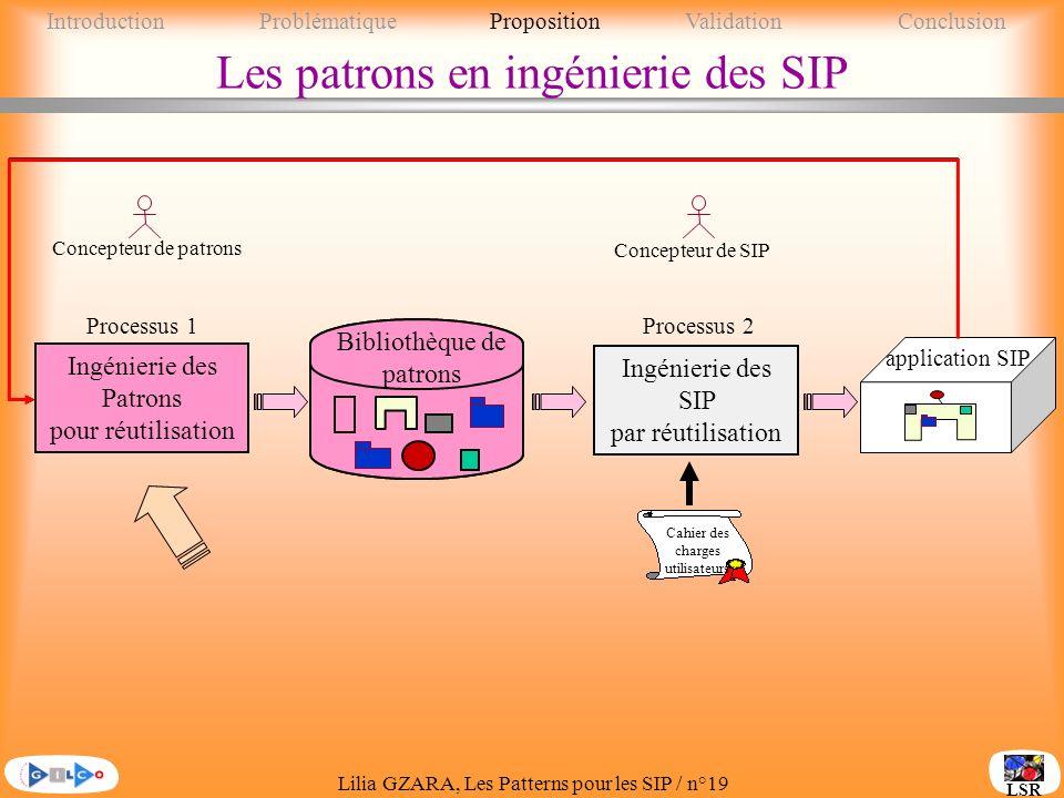 Les patrons en ingénierie des SIP