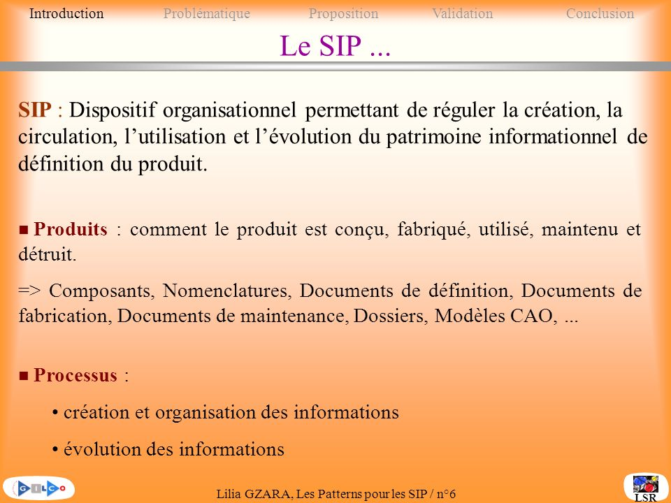 Introduction Problématique Proposition Validation Conclusion