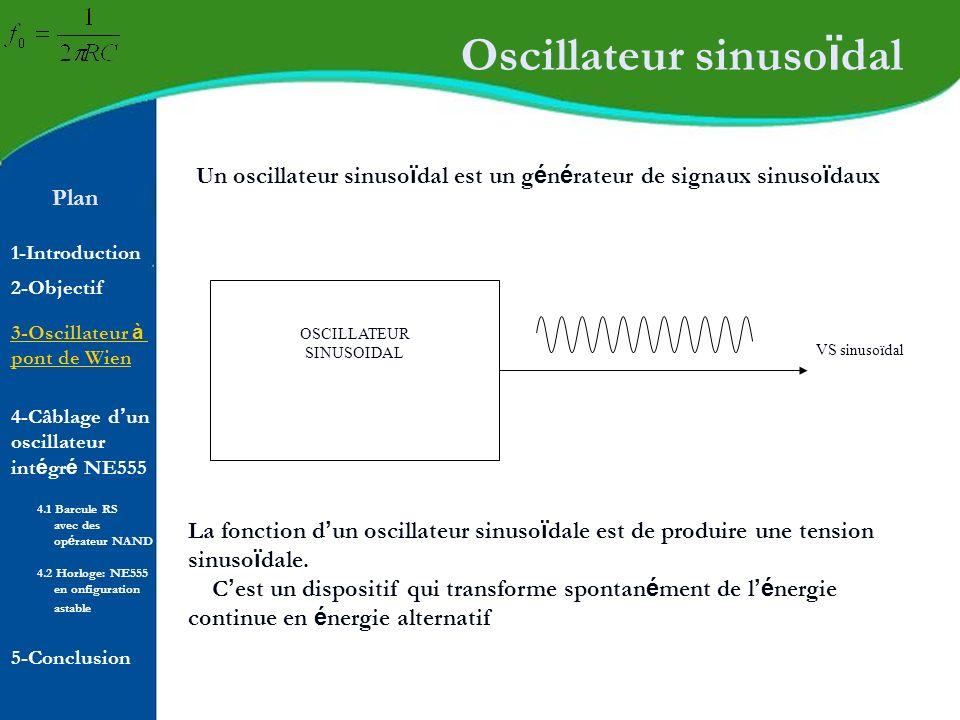 Oscillateur sinusoïdal