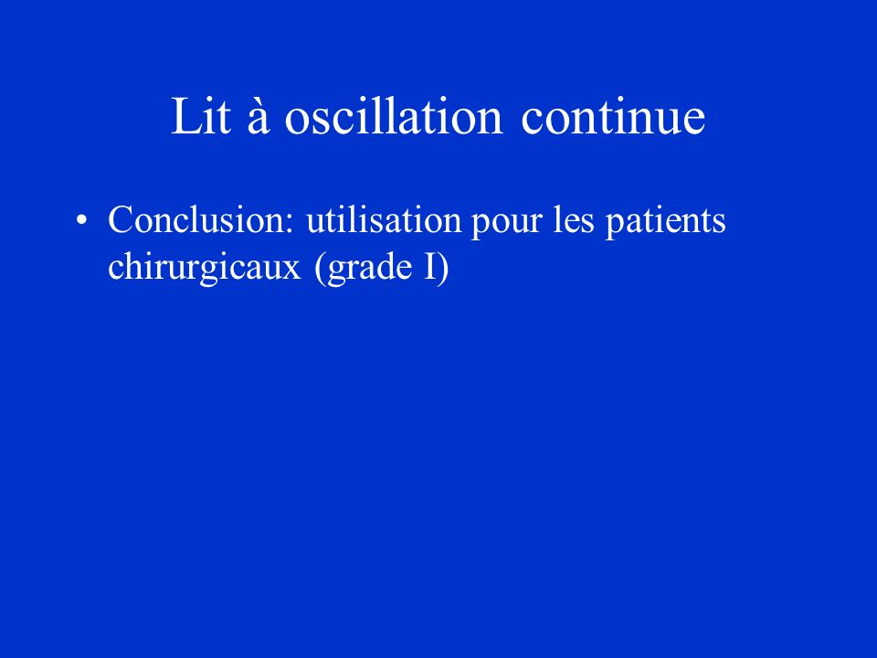 Lit à oscillation continue