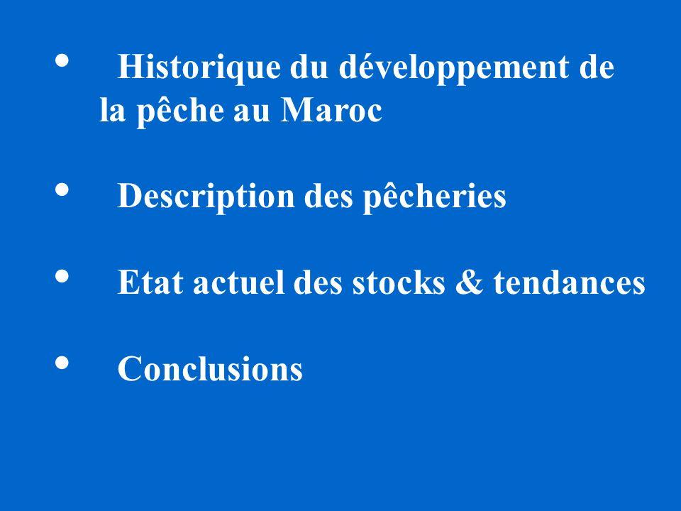 Historique du développement de la pêche au Maroc