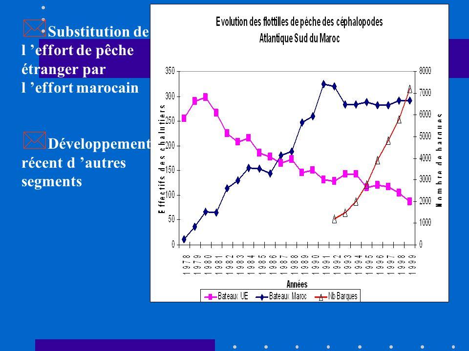 Substitution de l 'effort de pêche étranger par l 'effort marocain