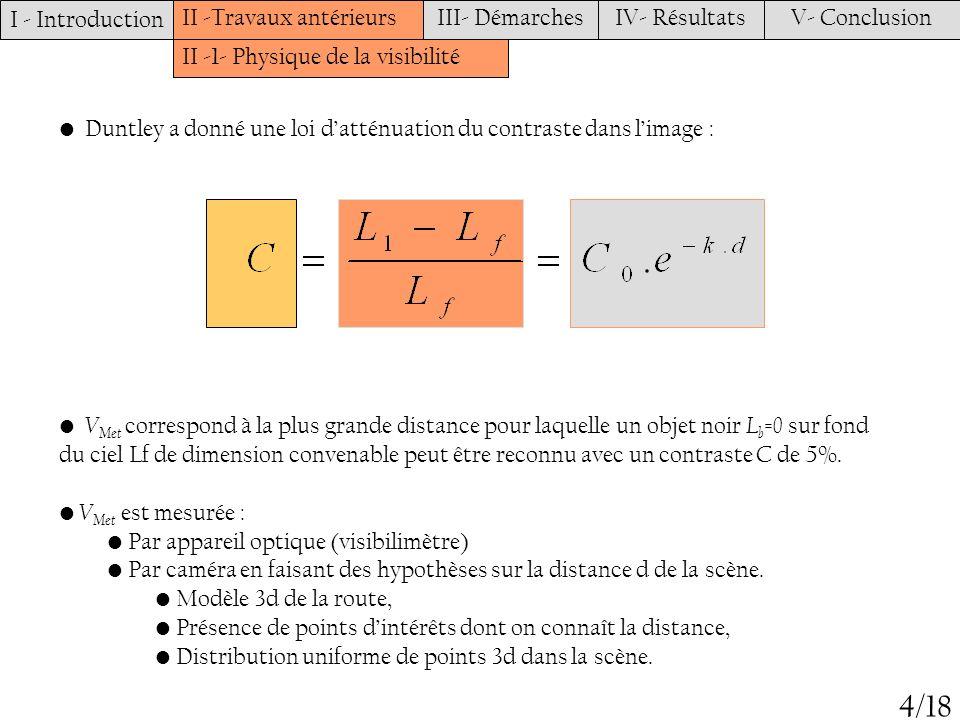 4/18 I - Introduction II -Travaux antérieurs III- Démarches