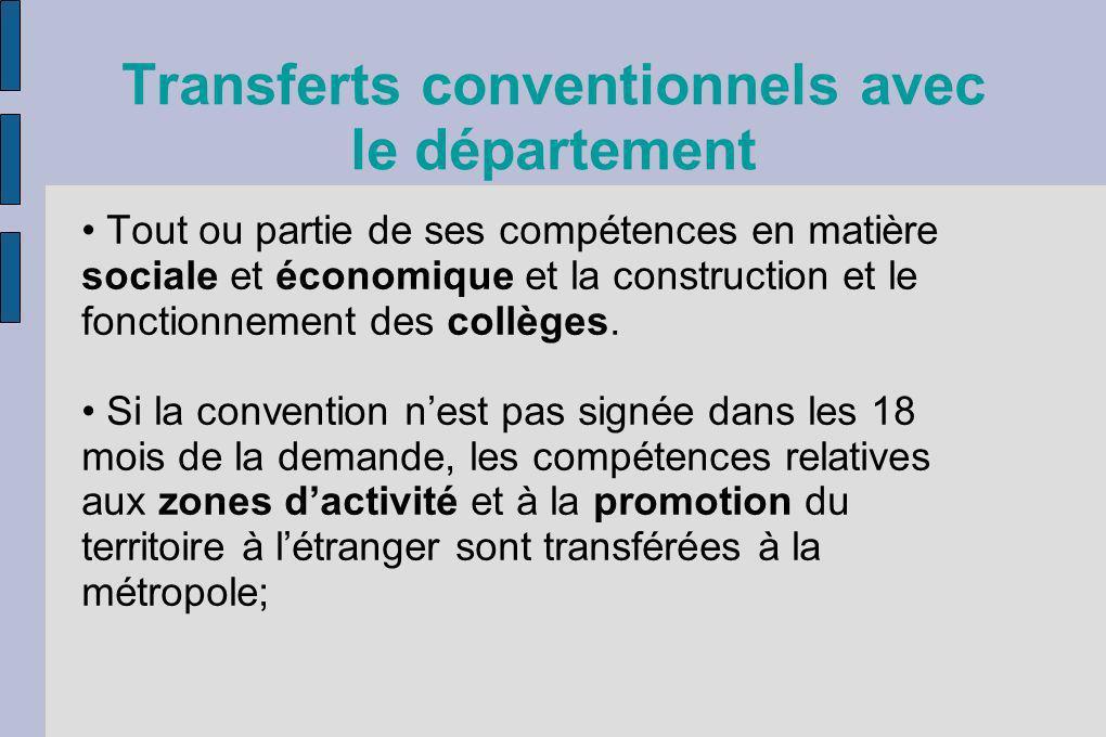 Transferts conventionnels avec le département