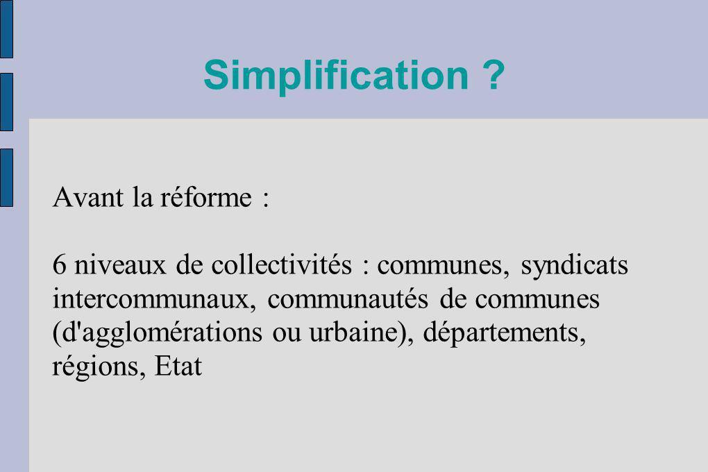 Simplification Avant la réforme :