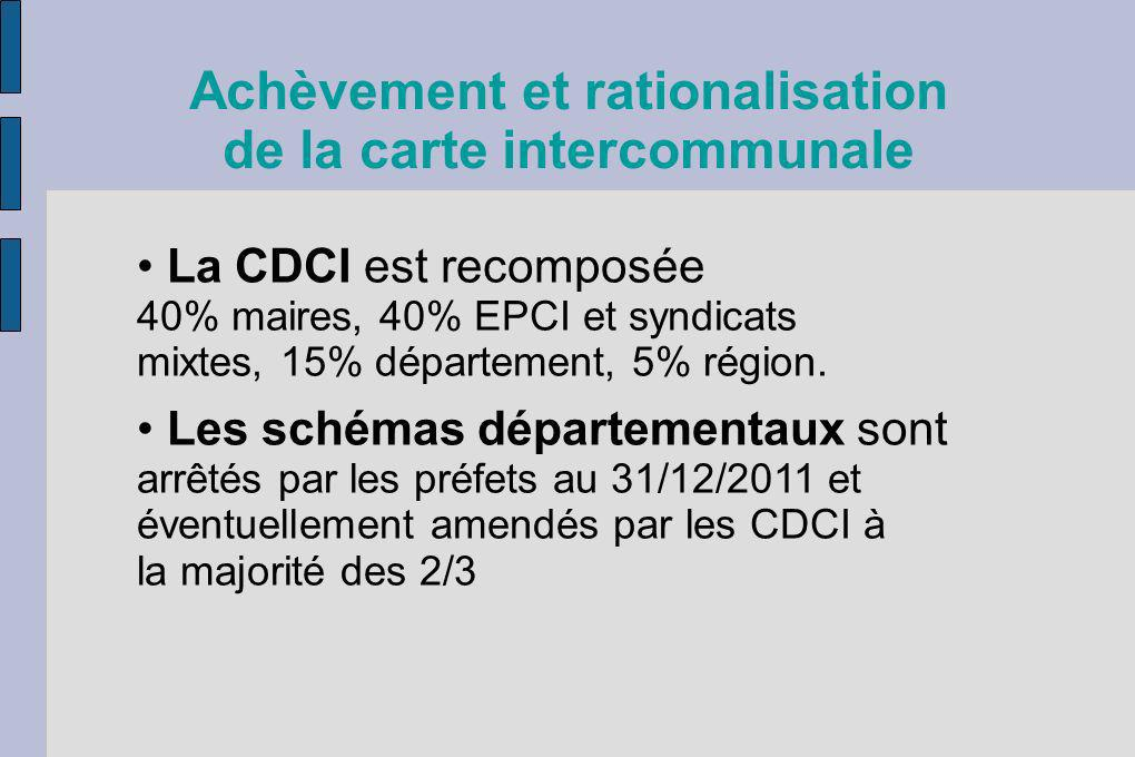 Achèvement et rationalisation de la carte intercommunale