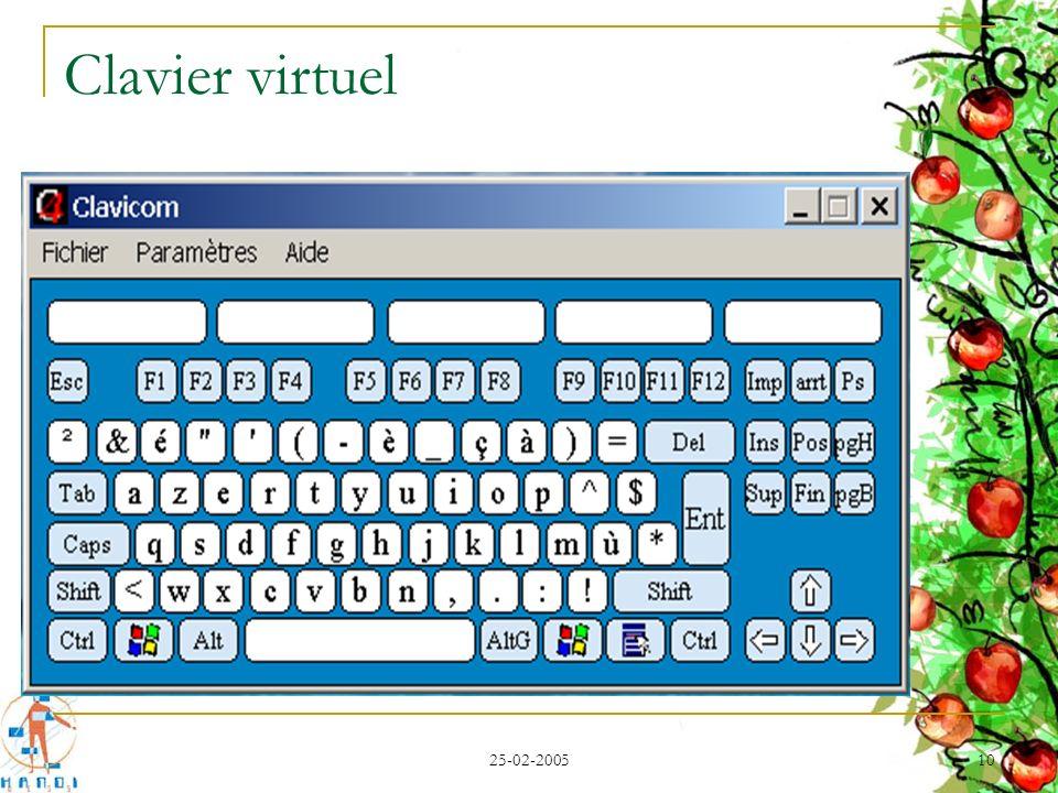 Clavier virtuel 25-02-2005