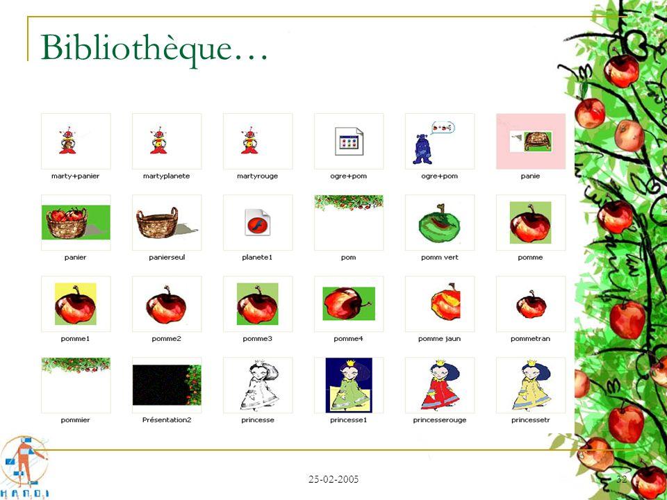 Bibliothèque… 25-02-2005