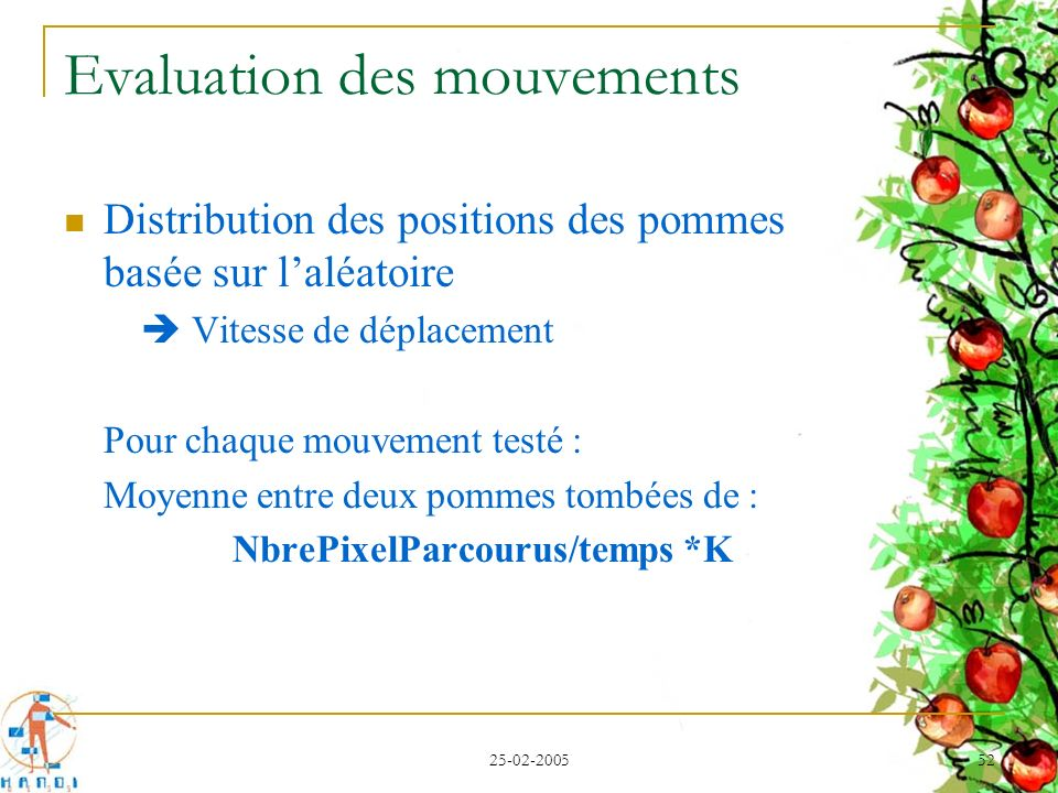 Evaluation des mouvements
