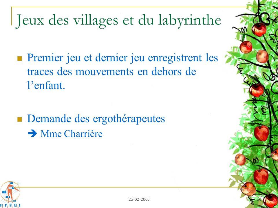 Jeux des villages et du labyrinthe