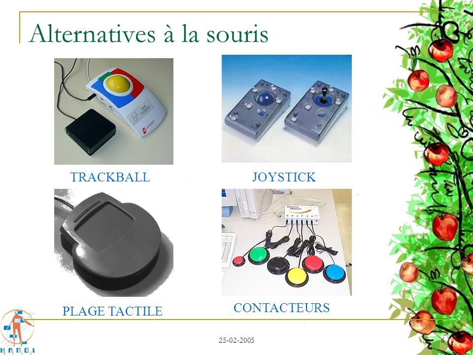 Alternatives à la souris
