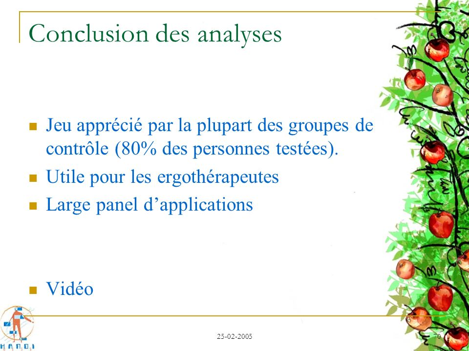 Conclusion des analyses