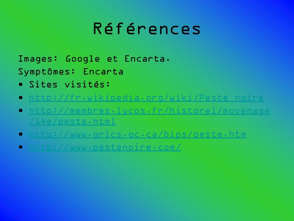 Références Images: Google et Encarta. Symptômes: Encarta