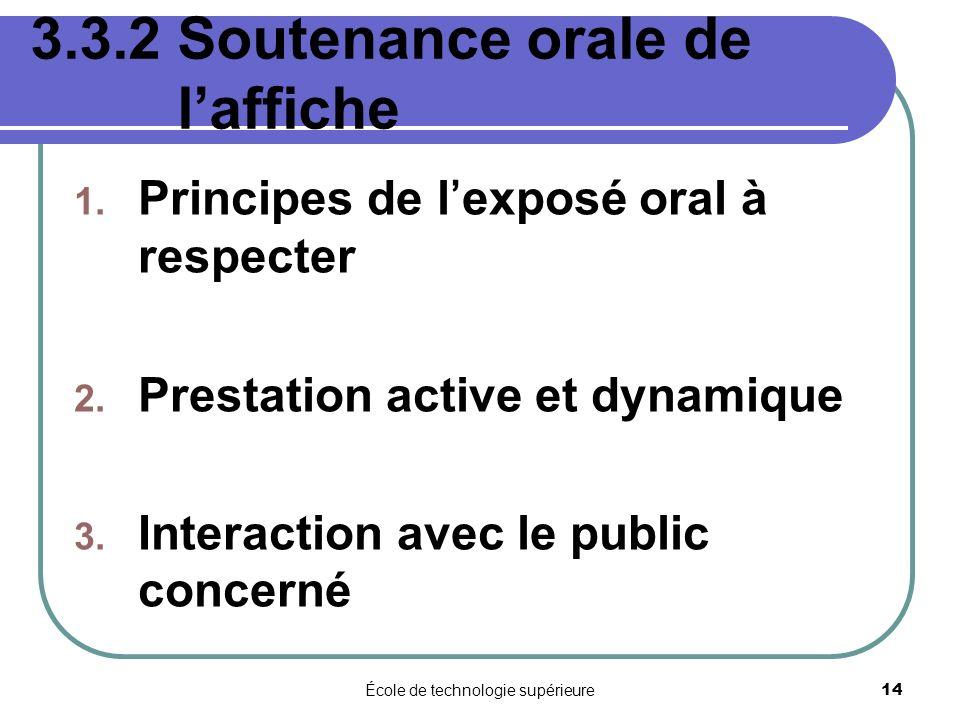 3.3.2 Soutenance orale de l'affiche