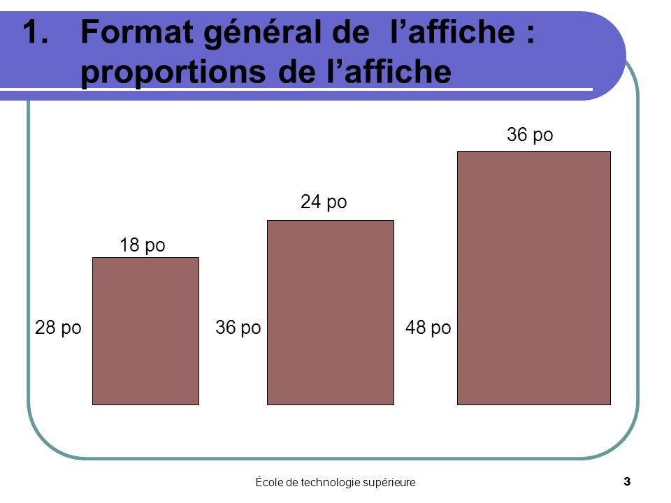 Format général de l'affiche : proportions de l'affiche