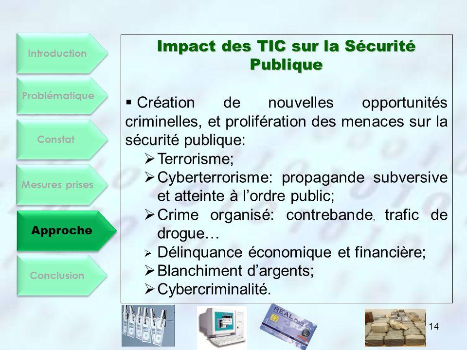 Impact des TIC sur la Sécurité Publique